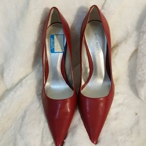 Nine West  Red Leather Pump